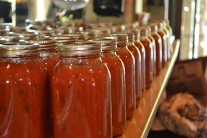 Sauce in jars no labels low res